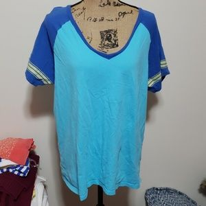 Xxl old navy blue vneck tshirt. Distressed style